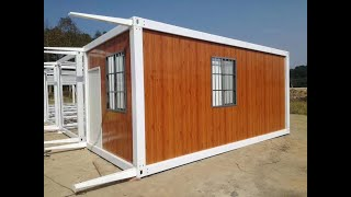 Download prefab shipping container house homes frame installation video Video