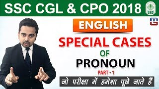 Download Special Cases of Pronoun | English | SSC CGL | CPO 2018 | 5:00 pm Video