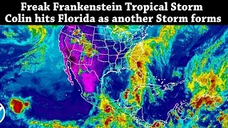 Download Freak Frankenstein Tropical Storm Colin hits Florida as another Storm begins to Form Video