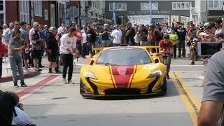 Download What happens when a Mclaren P1 GTR pulls up to a car show (BURNOUTS) Video