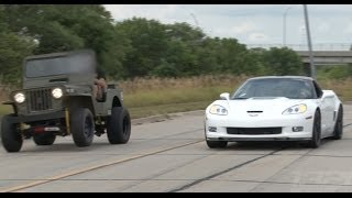 Download ZR-1 Corvette vs LSx Willy's Jeep Video