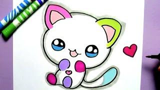 Download HOW TO DRAW CUTE RAINBOW CAT - COMO DIBUJAR UN GATO KAWAII Video