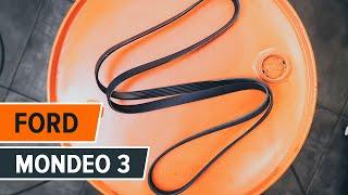 Download Cómo cambiar correa acanalada, rodillo tensor en FORD MONDEO 3 INSTRUCCIÓN   AUTODOC Video