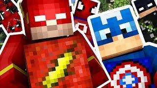 Download Minecraft 1V1V1V1 SUPERHERO LUCKY BLOCK ON GOTHAM (BATMAN CITY)! | (Minecraft Modded Minigame) Video
