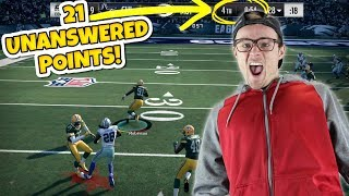 Download 21 UNANSWERED POINTS WITH ONLY 1 MINUTE LEFT?? (Down By 14!) Madden 18 RTE Video
