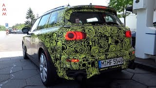 Download 2018 300HP MINI Clubman JCW spied testing at the Nürburgring Video
