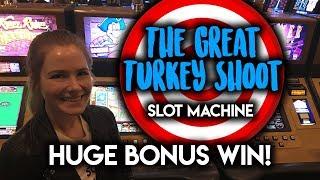 Download HUGE WIN! BONUS! The Great Turkey Shoot Slot Machine! Video
