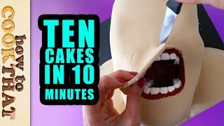 Download 10 Amazing Cakes & Desserts in 10 Minutes Compilation by How To Cook That, Ann Reardon Video