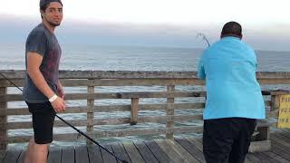 Download Man Hits JACKPOT Galveston FISHING PIER Video