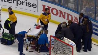 Download Fiala stretchered off after Bortuzzo takes him hard into boards Video