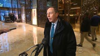 Download Trump meets with Gen. David Petraeus, mulls Cabinet picks Video