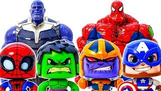 Download Thanos Come And Destroy Avengers~ Spider Hulk Appeared~ Go Go Go~ Defeat Thanos #Toymarvel Video