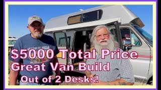 Download $5000 Tiny Home one Wheels (Hightop Van) Made with 2 Used Desks Video