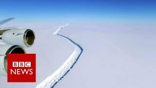 Download Giant Antarctic iceberg set to break away - BBC News Video