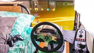 Download Simulador de Carreras en el Coche | Mi ″Setup Gamer″ en una Furgoneta Camper Video
