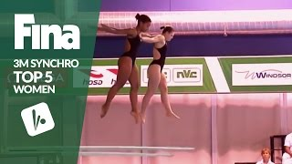 Download Top 5 - Women's 3m Synchronised | FINA/NVC Diving World Series - Windsor 2017 Video