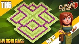 Download ″BEST BASE″ TH6 HYBRID/WAR [defense] Base 2018!! COC Town Hall 6 Hybrid Base Design - Clash of Clans Video