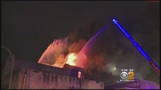 Download Row Of Businesses Go Up In Flames In Passaic, NJ Video
