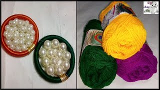 Download How to Make Pearl Beaded Woolen Necklace || Diy || Jewellery Making at Home Video