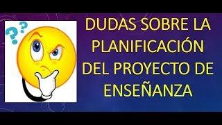 Download Soy Docente: DUDAS DE LA PLANIFICACIÓN DEL PROYECTO DE ENSEÑANZA (17, 2018) Video
