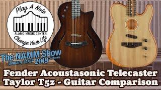 Download New Fender Acoustasonic Telecaster vs Taylor T5z - 2019 Guitar Comparison Video