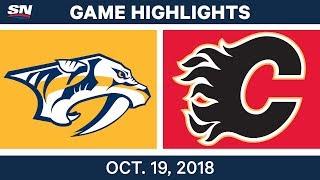 Download NHL Highlights | Predators vs. Flames - Oct. 19, 2018 Video