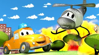 Download Hector the Helicopter save the day ! - Tom the Tow Truck's Car Wash   Cars cartoons for kids Video