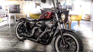 Download RIDING HER CUSTOM 48 HARLEY DAVIDSON FOR THE FIRST TIME Video