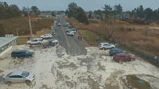 Download Storm Surge - High Tide - Ocean Park, Wa Beach Approach ″Cars Scrambling″ Today 1-18-2018 Video
