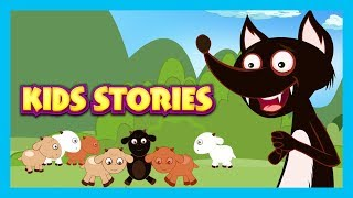 Download KIDS STORIES - The Wolf and The Seven Goats Story, The Fox & The Stork Video