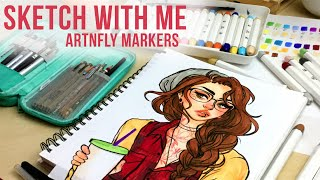 Download Sketch With Me // ArtnFly Marker Review // Jacquelindeleon Video