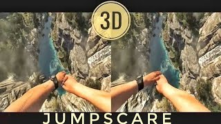 Download VR Acrophobia? 3D Jump from Mountain VR [Google Cardboard VR Box 360] Virtual Reality Video 3D SBS Video