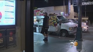 Download Business Owners Pick A Food-Truck Fight Along Hollywood Boulevard Video