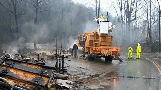 Download Firefighters search scorched homes in Gatlinburg area Video