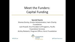 Download Meet the Funders: Capital Funding Video