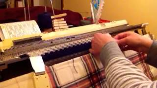 Download Handling stripes on a knitting machine Video