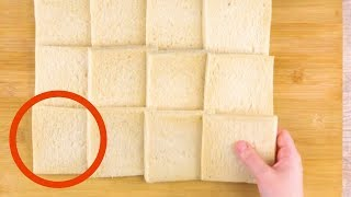 Download Take 12 Slices Of Bread & Roll Them Flat. The Result? Awesome! Video