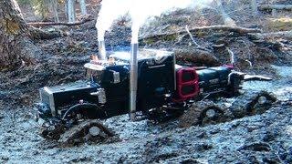 Download RC ADVENTURES - Muddy Tracked Semi-Truck 6X6X6 HD OVERKiLL & 4X4 ″BEAST″ MT on the Trail Video