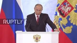 Download LIVE: Putin delivers annual address to Federal Assembly in Moscow - ORIGINAL Video