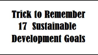 Download magic trick to memorise 17 sustainable development goals - must watch for SDG Video