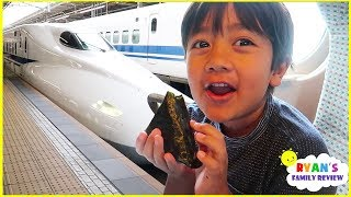 Download Ryan's first time riding Japan Bullet Train!!! Video