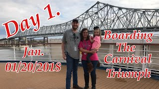 Download Carnival Cruise 01/20/2018 - New Orleans to Cozumel Mexico on the Triumph / Day 1. Video