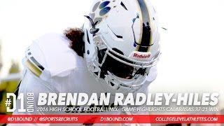 Download THE NEXT TYRANN MATHIEU: Brendan ″Bookie″ Radley-Hiles '18 DB Football Highlights (Calabasas) Video