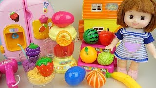 Download Baby doll fruit juice maker and kitchen surprise eggs play Doli story Video