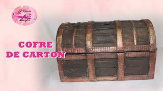 Download COMO HACER UN COFRE DE CARTON - Treasure chest made of cardboard Video