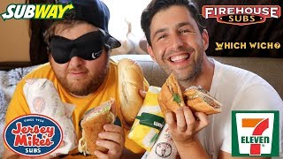 Download SANDWICH + BLINDFOLD FASTFOOD CHALLENGE! (Guess The Restaurant!) Video