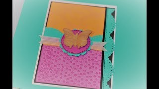 Download Recollections Butterfly Embossing Folder Cut and Emboss Video