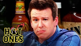 Download Philip DeFranco Sets a YouTube Record While Eating Spicy Wings | Hot Ones Video