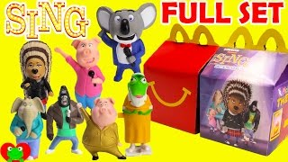 Download 2016 Sing McDonald's Happy Meal Toys Full Set Video