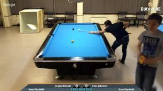 Download Jurgen Bonett vs. Elias Rytterager Johnsen. 9-Ball Video
